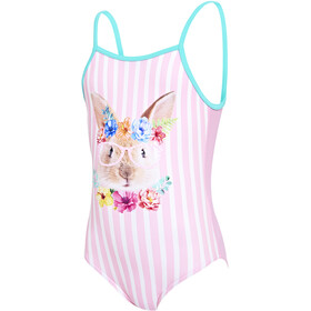Zoggs Tropical Bunny U Back Swimsuit Mädchen pink